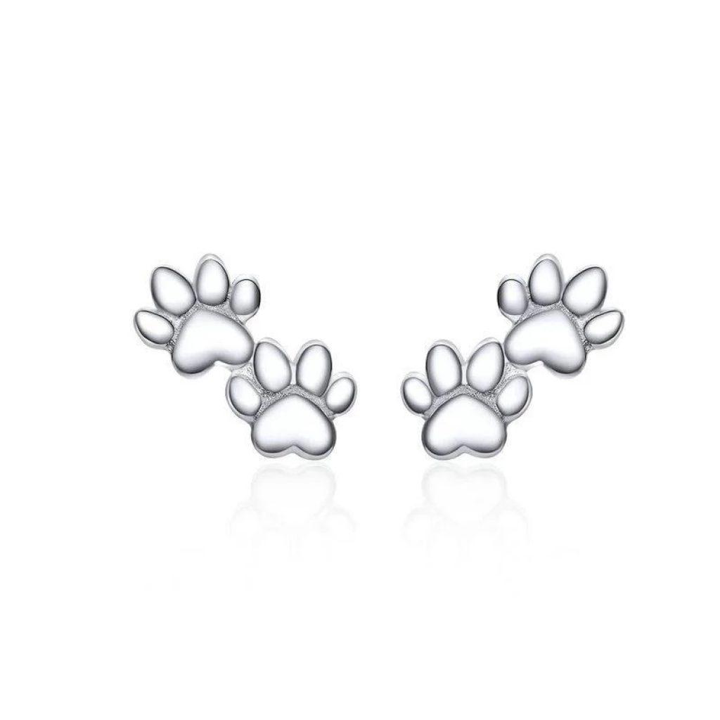 Boucles d'Oreilles Chat (Argent) – Les pattes de l'amour