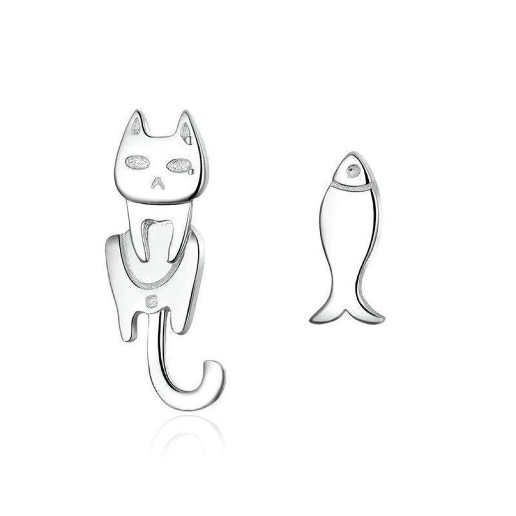 Boucles d'oreille (Argent) – Petit Chat Pécheur