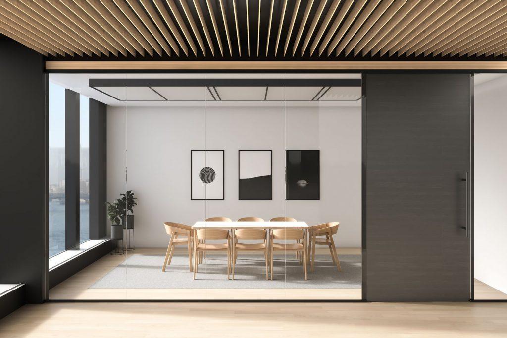 Porte coulissante salle à manger