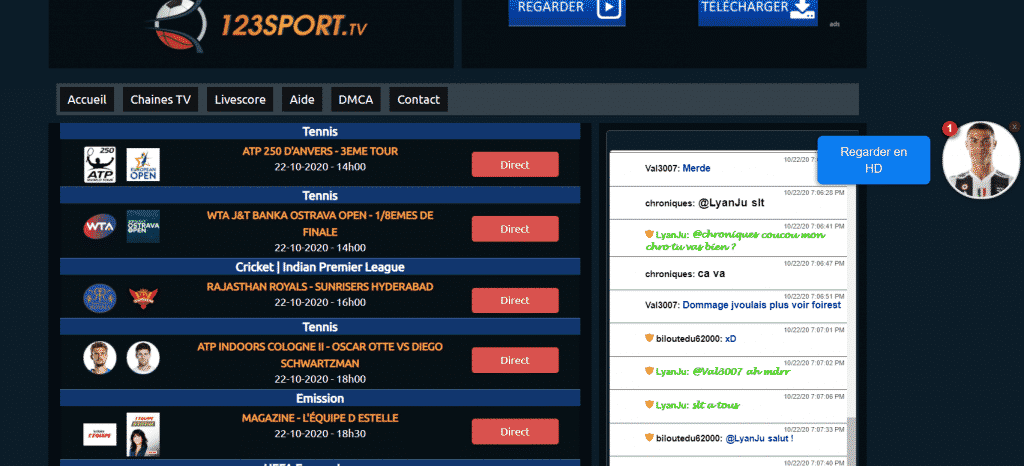 Page web 1 2 3 sport