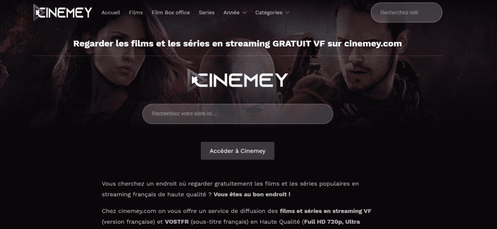 page web site de streaming cinemay