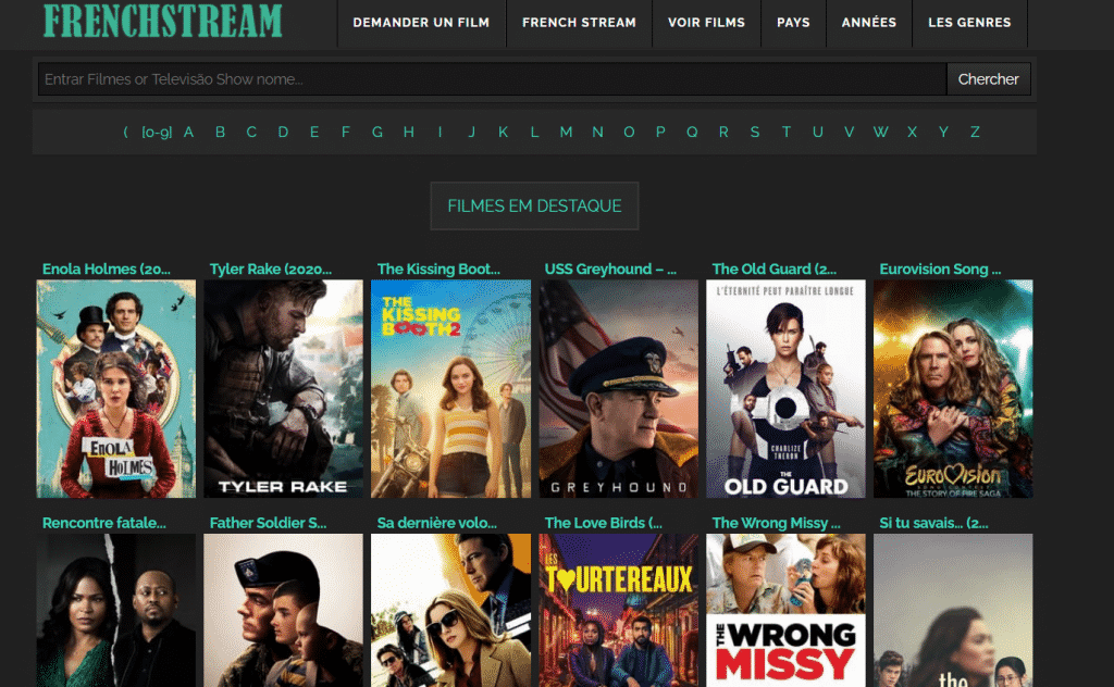 Page web site de streaming Frenchstream