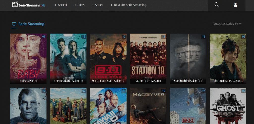 Page web site de streaming Site de Streaming
