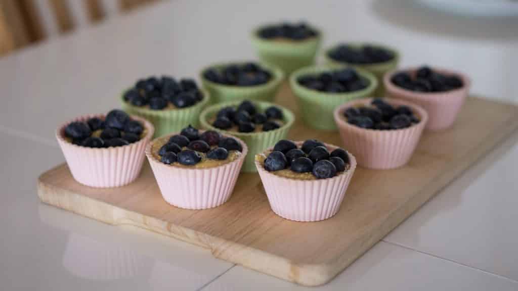 Plateau avec moule à muffin